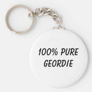 100% Pure Geordie Key Ring