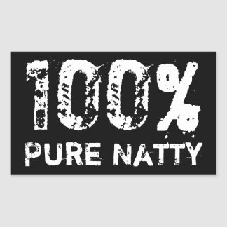 100% Pure Natty Rectangular Sticker