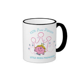100% Pure Princess - Little Miss Princess Ringer Mug