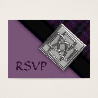 100 Purple Scotish Tartan with Celtic Badge RSVP