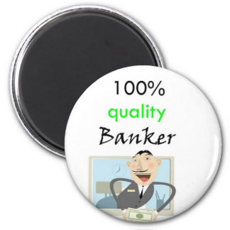 100% quality banker 6 cm round magnet