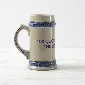 100 QUOTES FOR YOKES IS THE BOOK FOR YOU CUP 18 OZ BEER STEIN