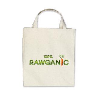 100% Rawganic Raw Food - Carrot Canvas Bags