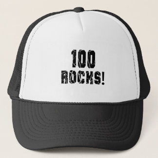 100 Rocks Birthday Designs Trucker Hat