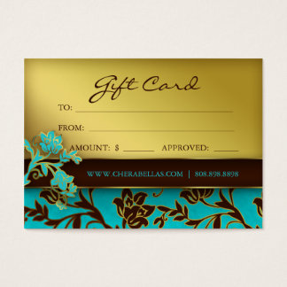 /100 Salon Gift Card Spa Gold Floral BB 232