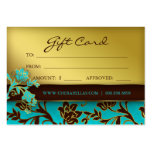 /100 Salon Gift Card Spa Gold Floral BB 232 Pack Of Chubby Business Cards