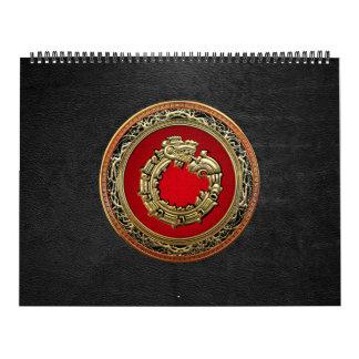 [100] Serpent God Quetzalcoatl [Gold] Calendar