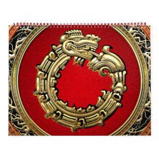 [100] Serpent God Quetzalcoatl [Gold] Calendars
