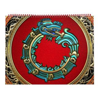 [100] Serpent God Quetzalcoatl [Jade] Wall Calendar