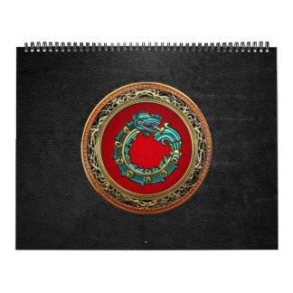 [100] Serpent God Quetzalcoatl [Jade] Wall Calendars