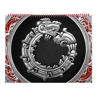 [100] Serpent God Quetzalcoatl [Silver] Calendar