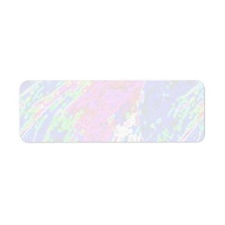 100 Shades :  Artistic Soft Color Patterns Return Address Label
