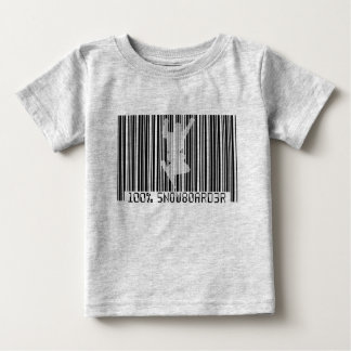 100% SNOWBOARDER 2 black barcode Baby T-Shirt