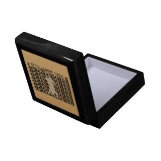 100% SNOWBOARDER 2 black barcode Small Square Gift Box