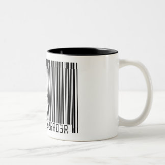 100% SNOWBOARDER 2 black barcode Two-Tone Coffee Mug