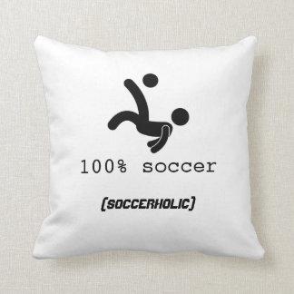 100% Soccer Pillow 16x16 Throw Cushion