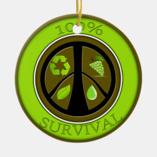 100% Survival Prepper Eco Design Ceramic Ornament