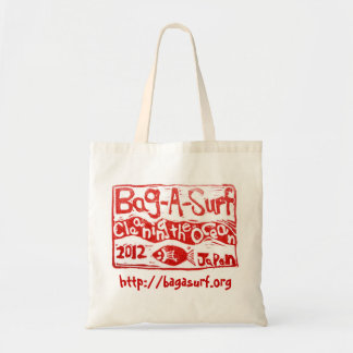 100% Sustainable Cotton bag with Bag-A-Surf logo