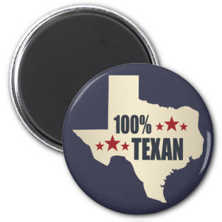 100% Texan 6 Cm Round Magnet
