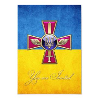 [100] Ukrainian Air Force Emblem 13 Cm X 18 Cm Invitation Card