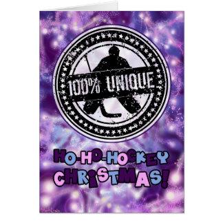 100% Unique Hockey Goalie Christmas Greeting Card
