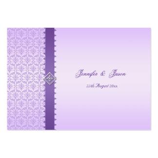 100 Wedding Enclosure Cards Vintage Lilac Damask Business Card