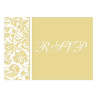 100 Wedding RSVP Cards, Select Background Color Large Business Cards (Pack Of 100)