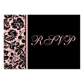 100 Wedding RSVP Cards Select Background Color Business Card Template