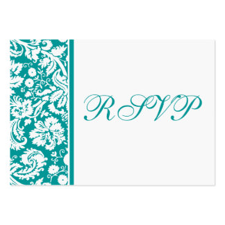 100 Wedding RSVP Cards, Select Background Colour Pack Of Chubby Business Cards