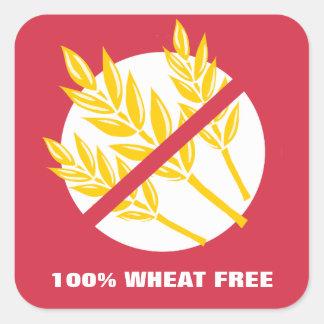 100% Wheat Free Food Allergy Celiac Alert Stickers