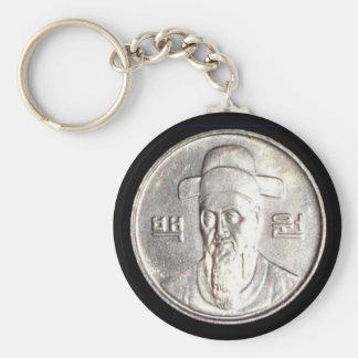 100 Won Coin Keychain