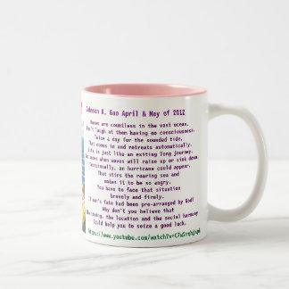 100 words poem of sea and life Two-Tone coffee mug