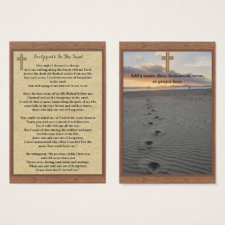 100 x Footprints In The Sand Prayer Cards