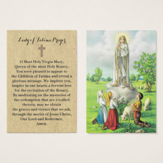100 x Lady of Fatima Prayer Cards