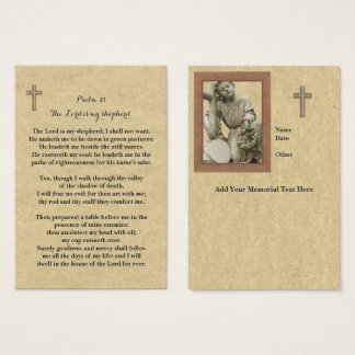 100 x Memorial Prayer Cards Lord Is My Shepherd