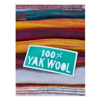 100% Yak Wool Postcard