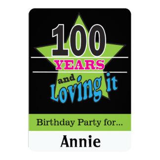 100 Year Old Birthday 13 Cm X 18 Cm Invitation Card