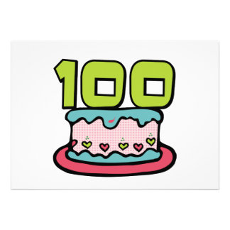 100 Year Old Birthday Cake Announcement