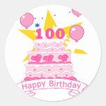 100 Year Old Birthday Cake Sticker