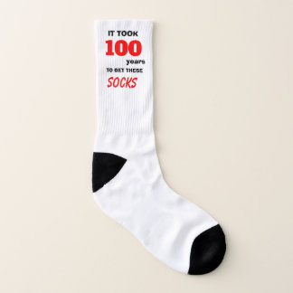 100 years for socks 100th Birthday 1