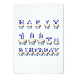 100 Years Old 13 Cm X 18 Cm Invitation Card