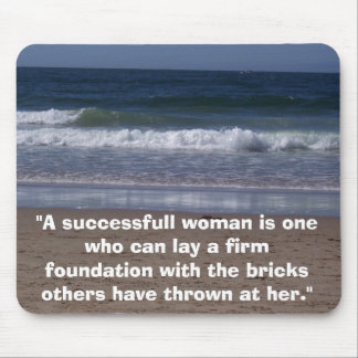 """100B1493, """"A successfull woman is one who can l... Mouse Pad"""