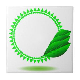 100Green Icon_rasterized Ceramic Tile