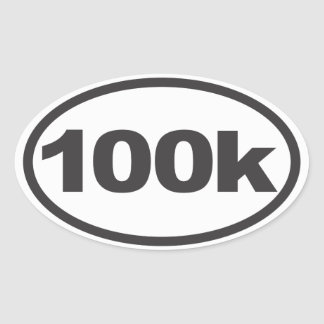 100K Ultra Oval Running Decal Oval Sticker