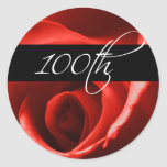 100th  Anniversary And Event Envelope Seal Classic Round Sticker