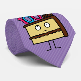 100th Birthday Cake with Candles Tie
