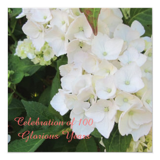 100th Birthday Celebration 13 Cm X 13 Cm Square Invitation Card