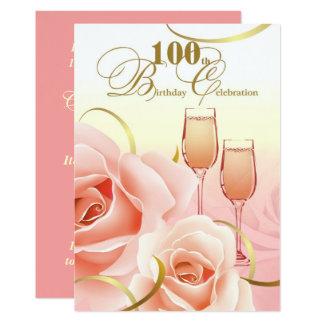 100th Birthday Celebration Custom Invitations