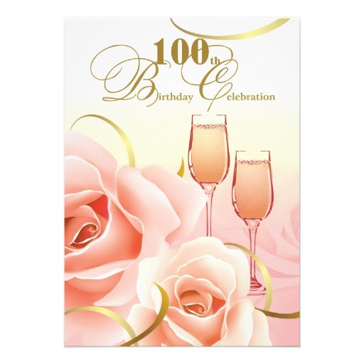 100th Birthday Celebration Custom Invitations
