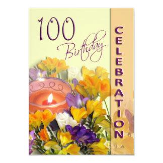 100th Birthday Celebration party invitation 13 Cm X 18 Cm Invitation Card